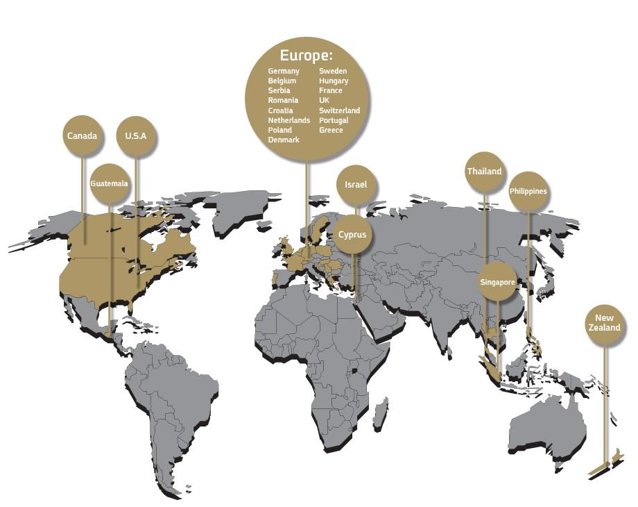 Zika Worldwide map - zika industrial welding suppliers